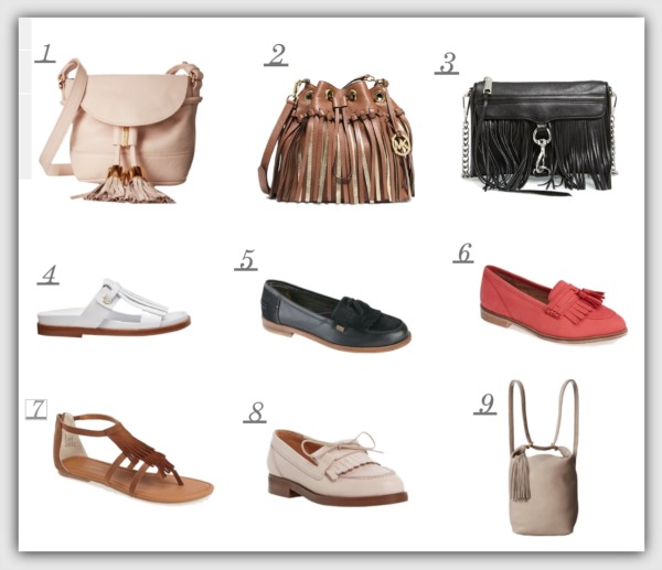 Fashion advice for 40+ women, fringe bags and shoes
