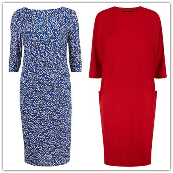 Dresses with sleeves by Gina Bacconi and Jaeger