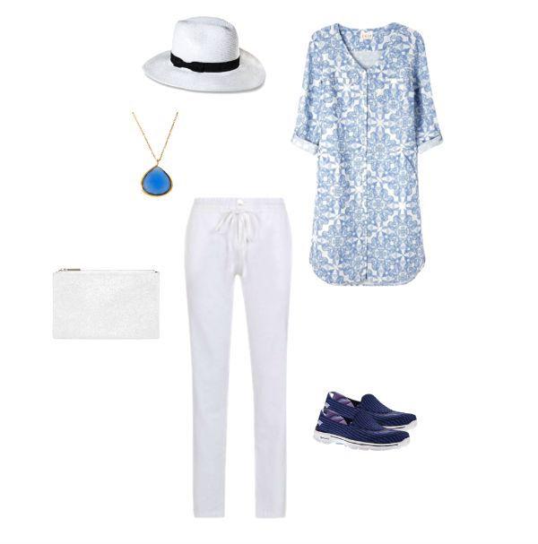 Capsule holiday wardrobe blue tunic