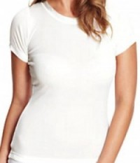 cream thermal silk vest