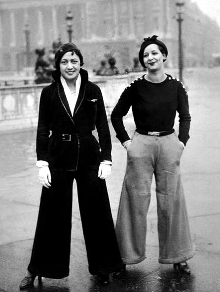 How to wear wide trousers - 1930 style
